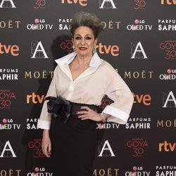 Luisa Gavasa en la alfombra roja de los Premios Goya 2016