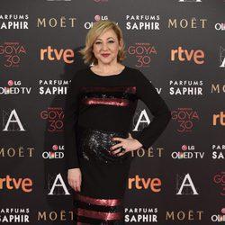 Carmen Machi en la alfombra roja de los Premios Goya 2016
