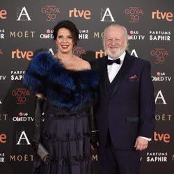 Juan Echanove en la alfombra roja de los Premios Goya 2016