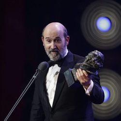 Javier Cámara recibe su Premio Goya 2016 a Mejor Actor de Reparto por 'Truman'