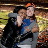 Taraji P. Henson y Amy Adams en la Super Bowl 2016