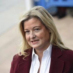 Virginia López Negrete a su llegada a la segunda sesión del juicio por el Caso Nóos