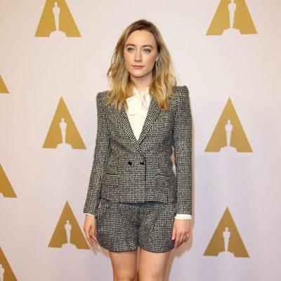 Saoirse Ronan en el almuerzo de los nominados a los Premios Oscar 2016