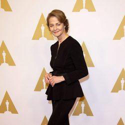 Charlotte Rampling en el almuerzo de los nominados a los Premios Oscar 2016