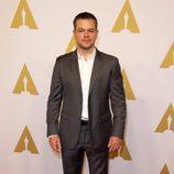 Matt Damon en el almuerzo de los nominados a los Premios Oscar 2016