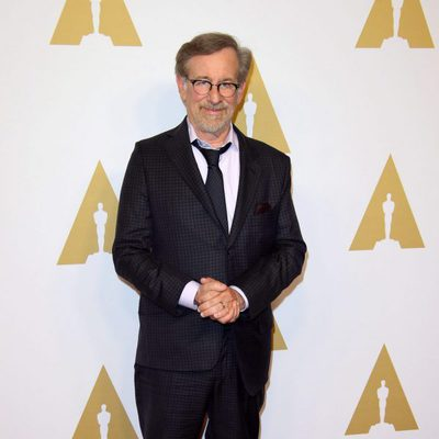 Steven Spielberg en el almuerzo de los nominados a los Premios Oscar 2016