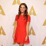 Alicia Vikander en el almuerzo de los nominados a los Premios Oscar 2016