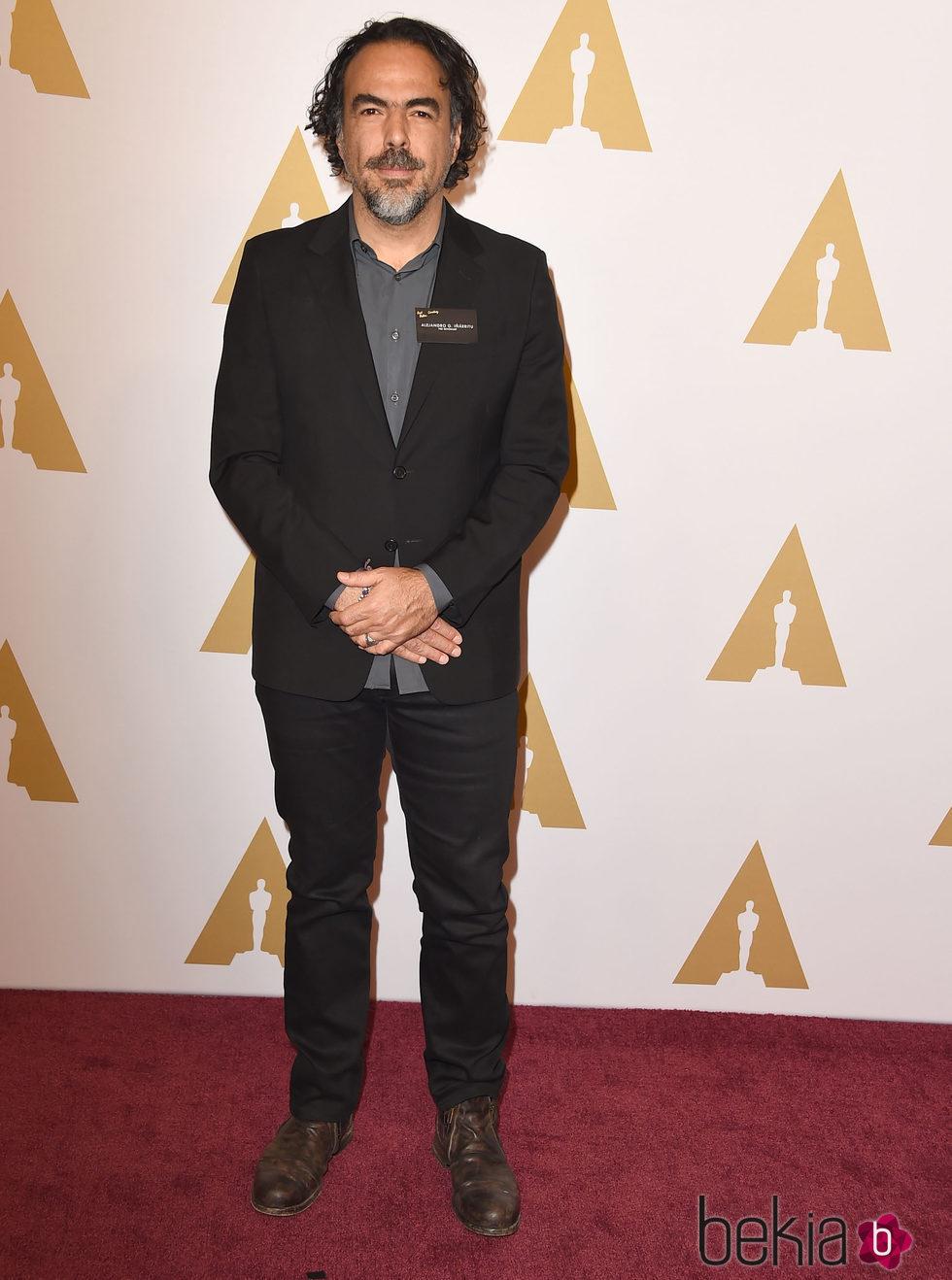 Alejandro González Iñárritu en el almuerzo de los nominados a los Premios Oscar 2016