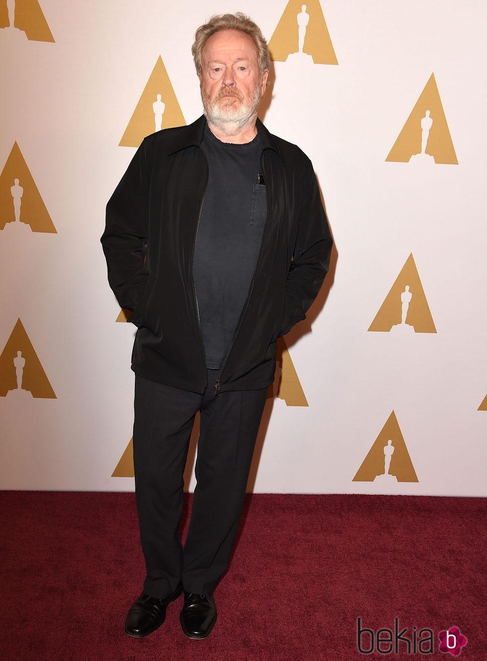 Ridley Scott en el almuerzo de los nominados a los Premios Oscar 2016