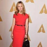 Jennifer Jason Leigh en el almuerzo de los nominados a los Premios Oscar 2016