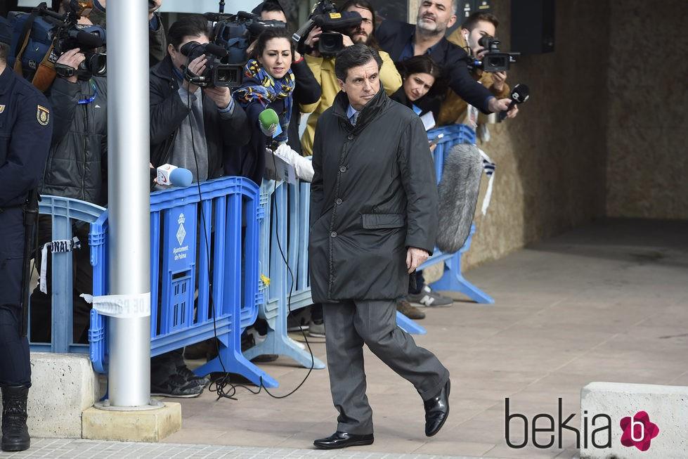 Jaume Matas a la salida de la segunda sesión del juicio por el Caso Nóos