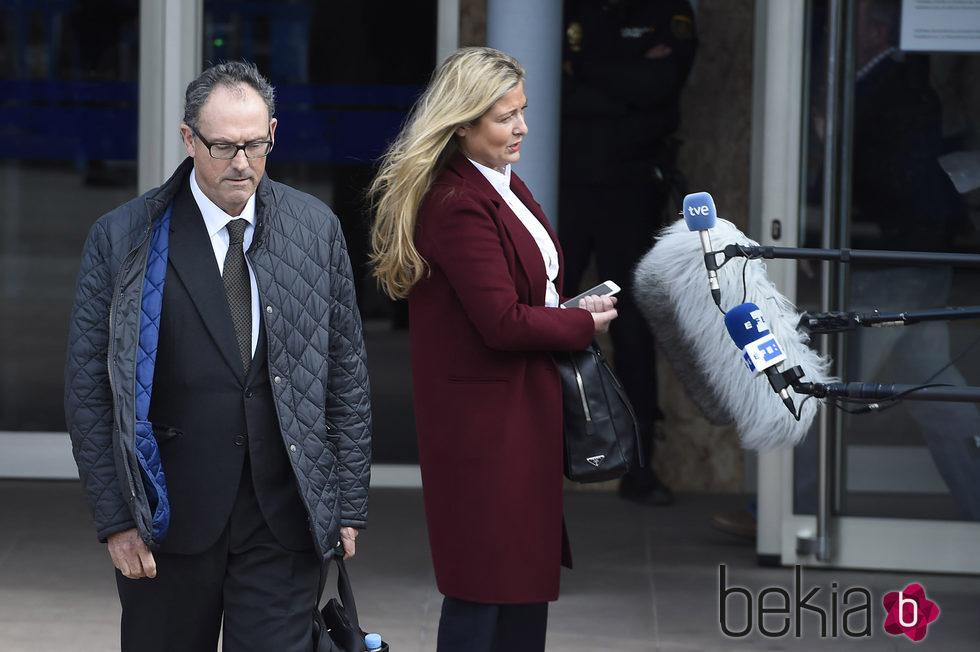 Mario Pascual Vives y Virginia López Negrete en la segunda sesión del juicio por el Caso Nóos