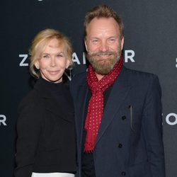 Trudie Styler y su marido Sting en el estreno de 'Zoolander 2' en Nueva York