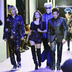 Owen Wilson, Ben Stiller y Penélope Cruz desfilando en el estreno de 'Zoolander 2' en Nueva York