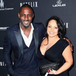 Idris Elba y Naiyana Garth en la fiesta de Netflix antes de ser padres