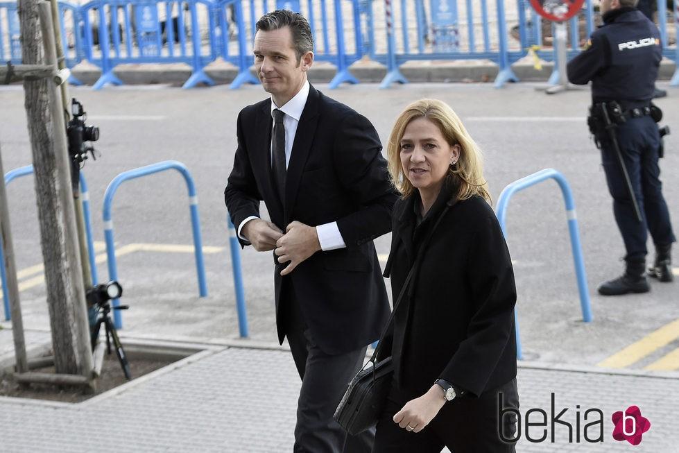 Iñaki Urdangarín y la Infanta Cristina en la tercera sesión del juicio por el Caso Nóos