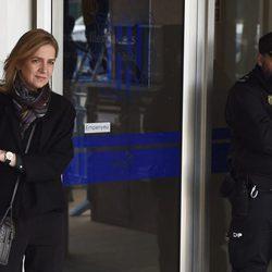 La Infanta Cristina sale de la tercera sesión del juicio por el Caso Nóos