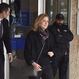 La Infanta Cristina e Iñaki Urdangarín a la salida de la tercera sesión del juicio por el Caso Nóos