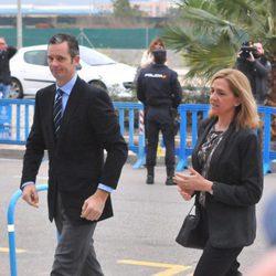 Iñaki Urdangarín y la Infanta Cristina a su llegada a la cuarta sesión del juicio por el Caso Nóos