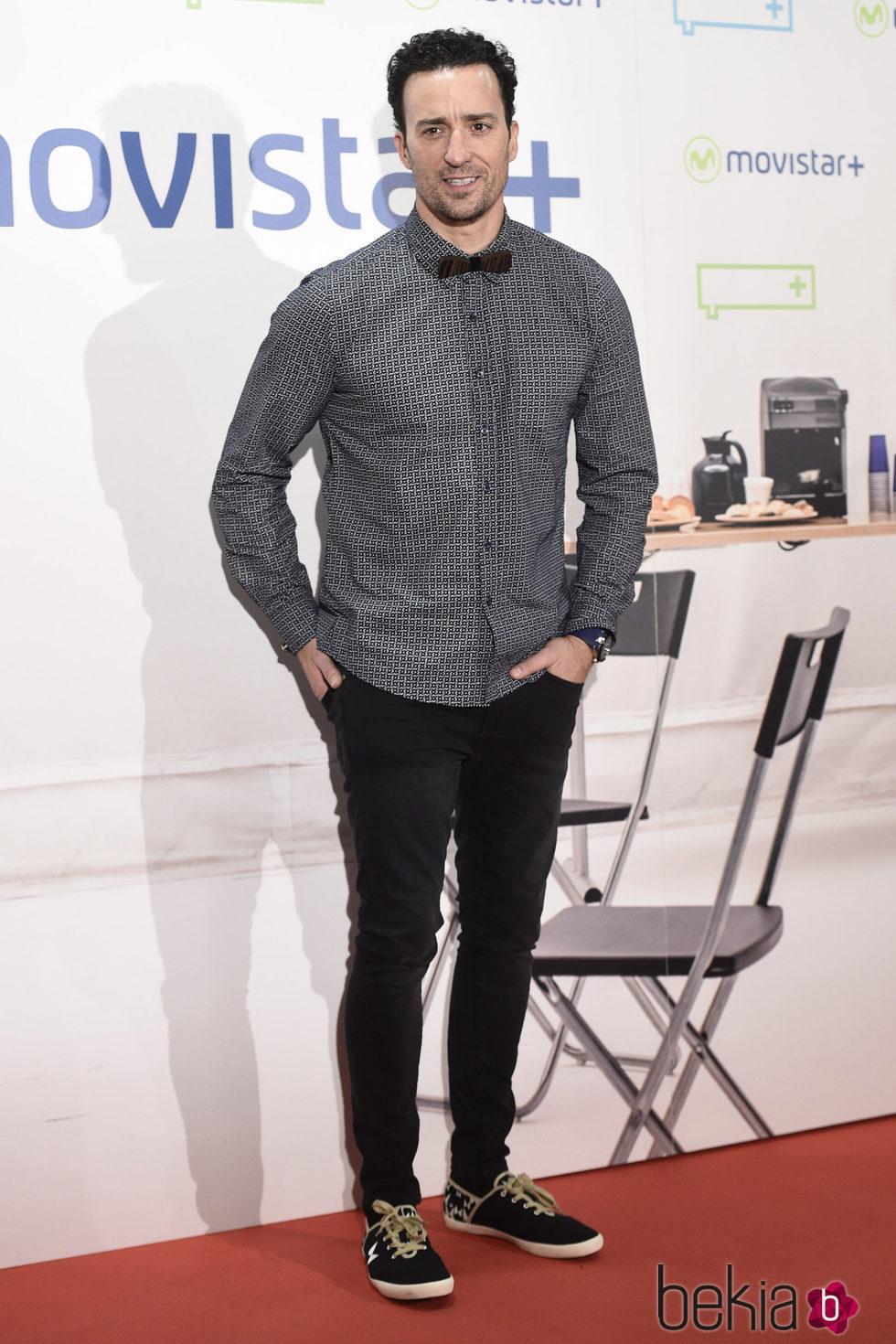 Pablo Puyol en la presentación de la serie '¿Qué fue de Jorge Sanz?' en Madrid