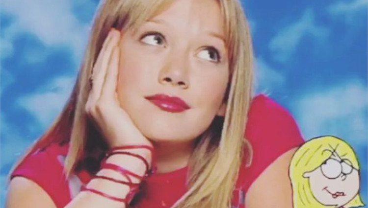 Hilary Duff interpretando a Lizzie McGuire en la serie juvenil de Disney en 2001