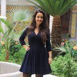 Eloina Marcos en la presentación de la segunda temporada de 'Allí abajo' en Sevilla