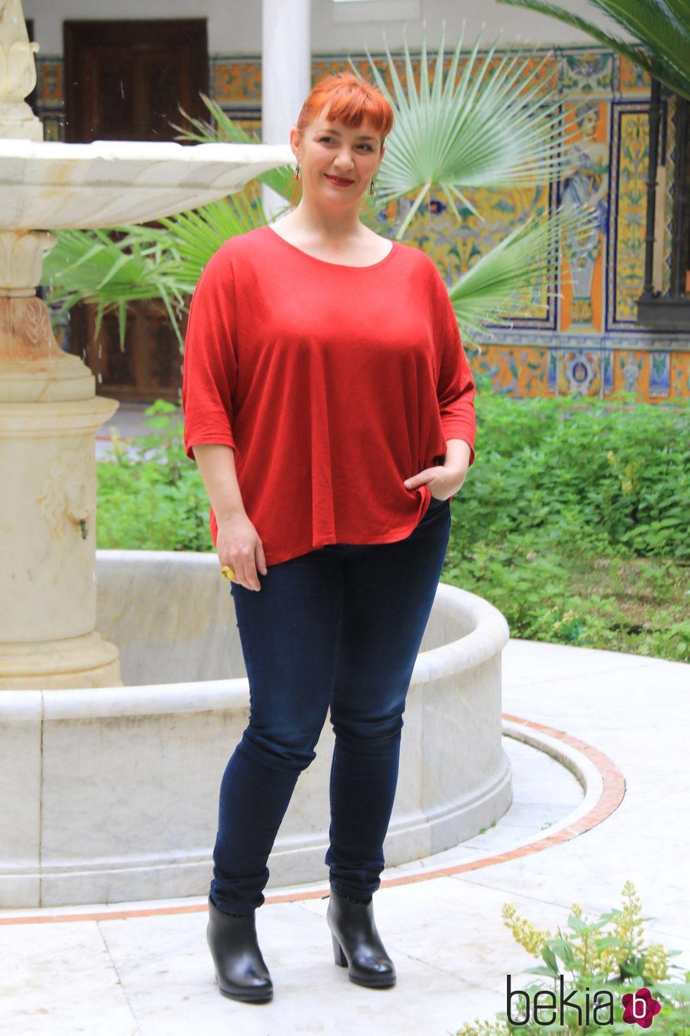 Beatriz Cotobal en la presentación de la segunda temporada de 'Allí abajo' en Sevilla