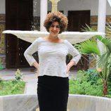 Teresa Quintero en la presentación de la segunda temporada de la serie 'Allí abajo' en Sevilla