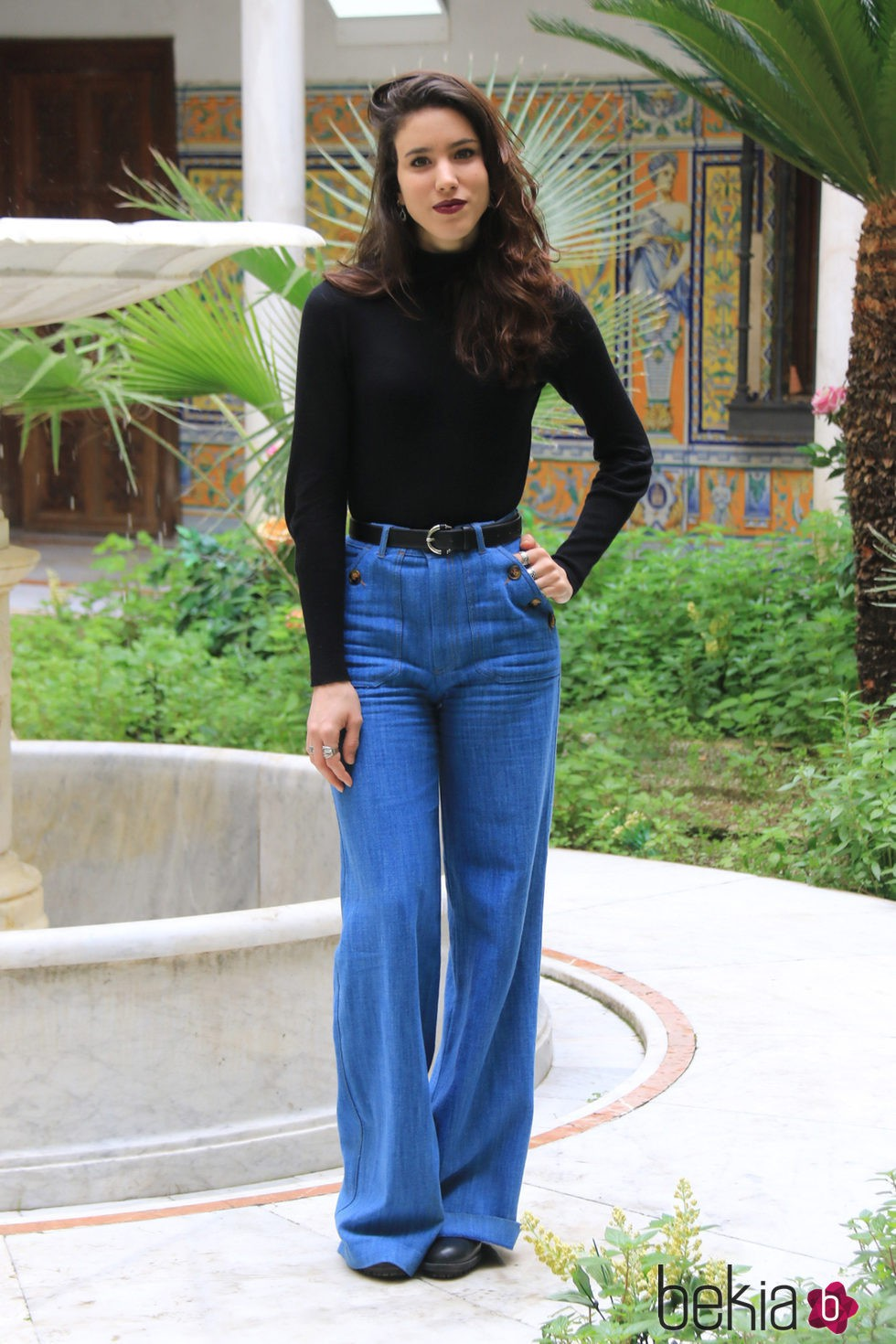 Rocío García Molina en la presentación de la segunda temporada de la serie 'Allí abajo' en Sevilla