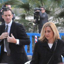 La Infanta Cristina e Iñaki Urdangarín en la quinta sesión del juicio por el Caso Nóos