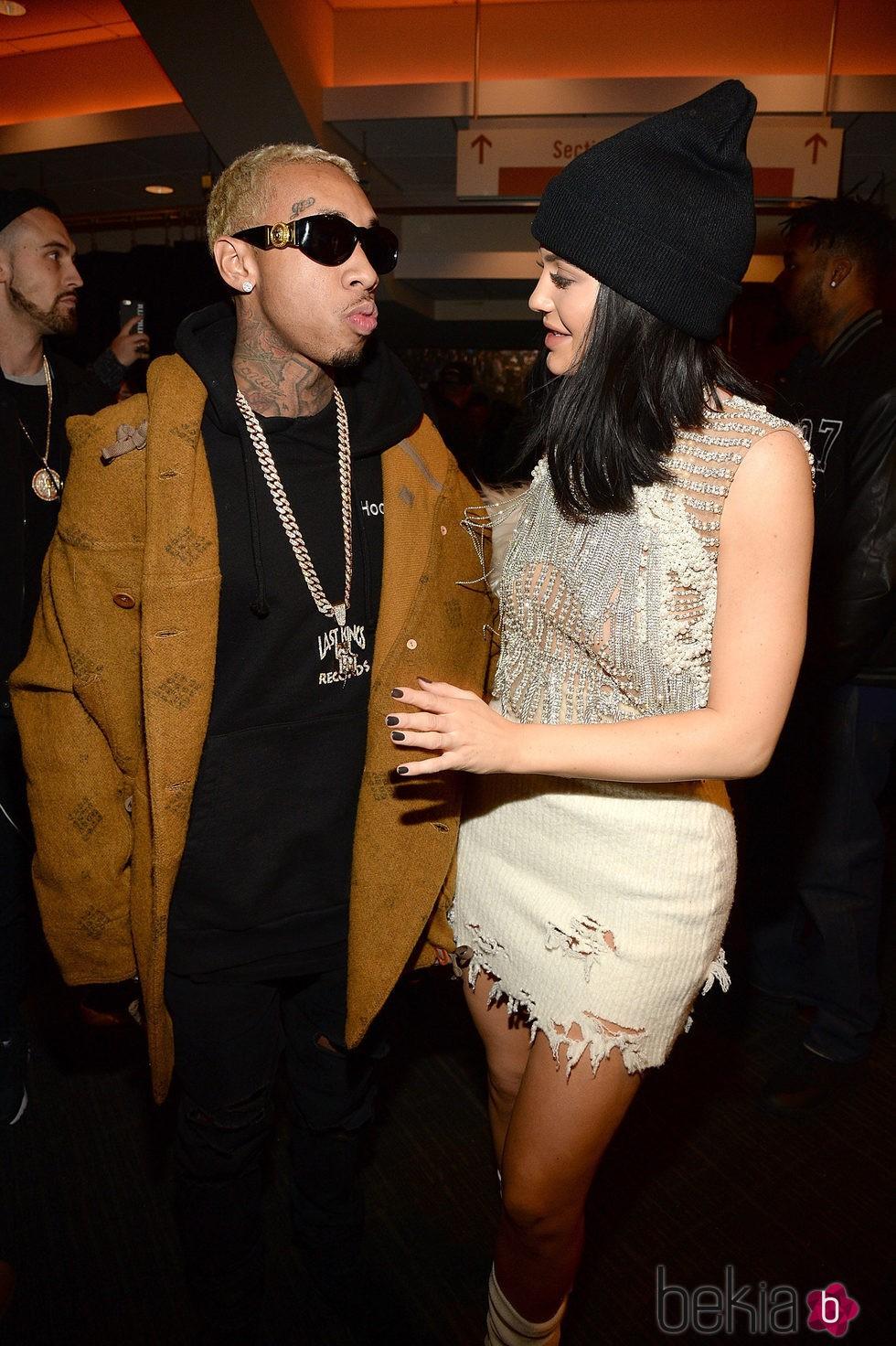 Tyga y Kylie Jenner en el desfile de Kanye West 'Yeezy Season 3'