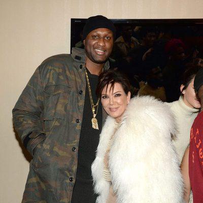 Lamar Odom y Kris Jenner en el desfile de Kanye West 'Yeezy Season 3'
