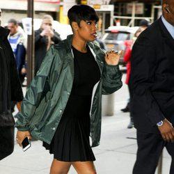 Jennifer Hudson a su llegada al desfile de Kanye West 'Yeezy Season 3'