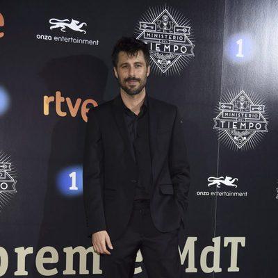 Hugo Silva en la presentación de la segunda temporada de 'El Ministerio del Tiempo'