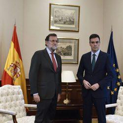 Mariano Rajoy y Pedro Sánchez se reúnen en el Congreso de los Diputados