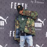 Travis Scott en la presentación de 'Fenty Puma' de Rihanna