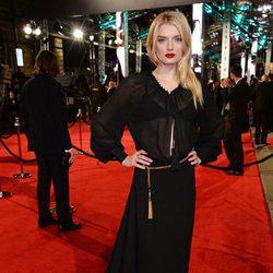 Lily Donaldson en la alfombra roja de los BAFTA 2016