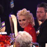 Gwen Stefani y Blake Shelton en la fiesta Clive Davis previa a los Grammy 2016
