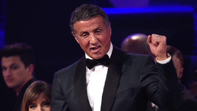 Sylvester Stallone en la fiesta Clive Davis previa a los Grammy 2016