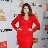Meghan Trainor en la fiesta Clive Davis previa a los Grammy 2016