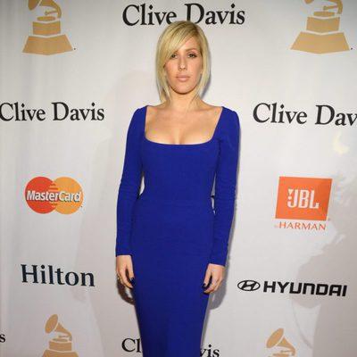 Ellie Goulding en la fiesta Clive Davis previa a los Grammy 2016