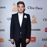 Adam Lambert en la fiesta Clive Davis previa a los Grammy 2016