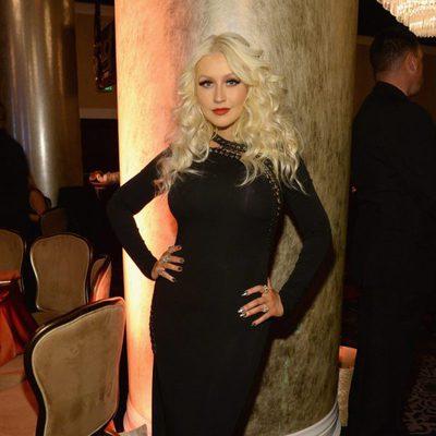 Christina Aguilera en la fiesta Clive Davis previa a los Grammy 2016