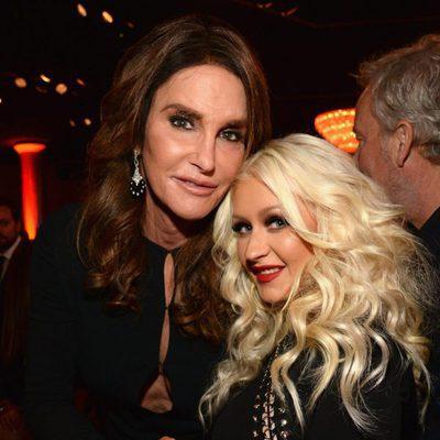 Christina Aguilera y Caitlyn Jenner en la fiesta Clive Davis previa a los Grammy 2016