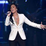 Demi Lovato durante su actuación en los Premios Grammy 2016