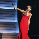 Ariana Grande en la gala de los Premios Grammy 2016