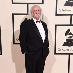 David Crosby en la alfombra roja de los Premios Grammy 2016