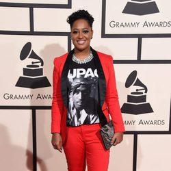 Rapsody en la alfombra roja de los Premios Grammy 2016
