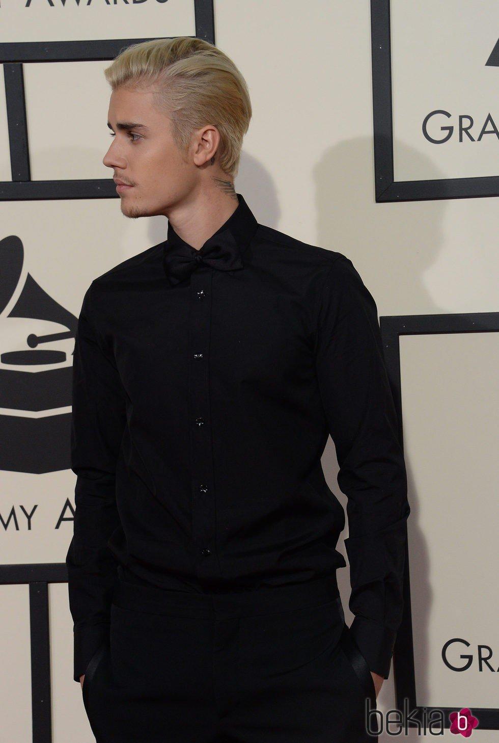 Justin Bieber a su llegada a los Grammy 2016