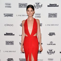 Lily Aldridge en la presentación de la portada de Sports Illustrated Swimsuit 2016